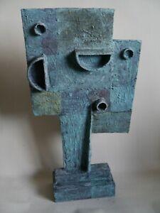 Retro abstract sculpture modernist brutalist influenced Bill Low