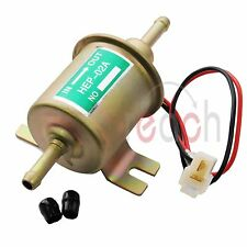 12V Gas liquid Inline Low Pressure Electric Fuel Pump  HEP-02A 6-9PSI