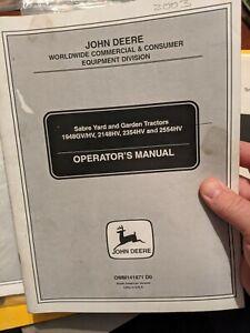 John Deere Sabre 1948GV/HV 2148HV 2354HV 2554HV Operator's Manual OMM141871