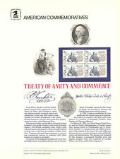 #180 20c Treaty with Sweden #2036 USPS Commemorative Stamp Panel