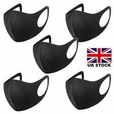 5 PACK Reusable Washable Breathable Face Masks Black Mask Unisex UK lot