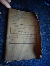 Ancien Répertoire Nomenclature des Rues de Paris 1918 des Postes & Télégraphes