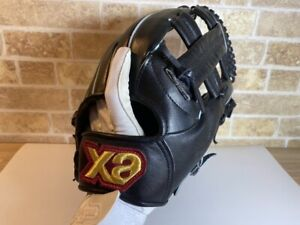 Baseball glove Xanax DVNAX BLACK Good condition 11in MADE IN JAPAN
