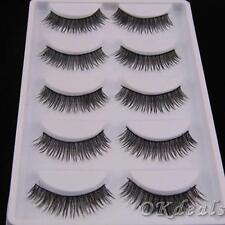 5 Pairs Long Handmade Makeup Beauty Eye Lashes Extension False Eyelashes Cross