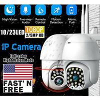 US 1080P HD IP CCTV Camera Waterproof Outdoor WiFi PTZ Security Wireless IR Cam