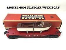 LIONEL  6801 FLATCAR WITH BOAT AND ORIGINAL BOX.