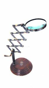 Nautical Antique Brass Adjustable folding Magnifying glass
