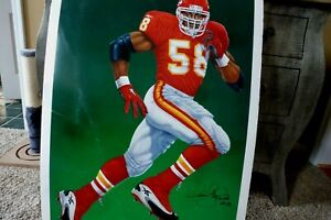 """DERRICK THOMAS (27""""x36"""") Signed Chiefs Poster/Photo -JSA Authenticated #Z15116"""
