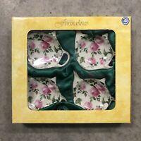 Baum Brothers Formalities Set Of 4 Bag Caddies Floral Tea Pot Shape New In Box