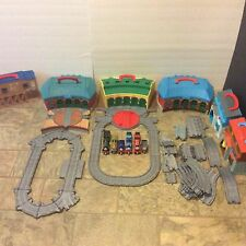 HUGE! Thomas The Tank Engine Train Take N Play LOT! (6 Sets Magnetic Cars Track)