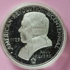 1975 BICENTENIAL COMMEMORATIVE STERLING SILVER PROOF COIN. PAUL REVERE