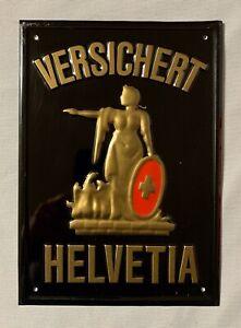 HELVETIA VERSICHERT - Blechschild