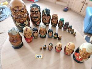 Huge Bundle Of Russian Dolls Dictators Leaders Presidents 23 in total