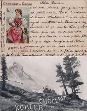 # PUBBLICITARIA: CHOCOLAT KOHLER - 2 CART. primo '900
