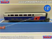 Voiture Intermédiaire TGV 2N2 EuroDuplex SNCF JOUEF - HJ 3003 - Echelle 1/87