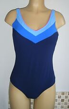 TRIUMPH CONTROL SWIMSUIT SIZE 18 BLACK PINK PADDED FIRM TUMMY COSTUME NEW