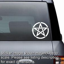 Wiccan Pagan Occult Pentagram - Window Sticker Bumper