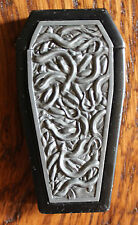 New Refillable Windproof Metal Relief Coffin Lighter Gothic Biker Snake Snakes