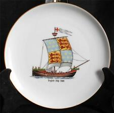 "Vintage ESCHENBACH BARONET Bavaria Germany ENGLISH SHIP 1300 8"" Ship Plate"