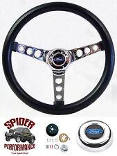 "1963-1964 Galaxie Fairlane steering wheel BLUE OVAL 13 1/2"" CLASSIC CHROME"