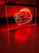 VOLKSWAGEN VW BUG LED NEON RED LIGHT SIGN 8x12
