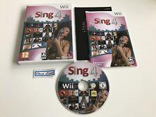 Sing 4 - Nintendo Wii - PAL EUR - Avec Notice