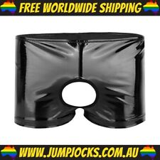 Black PVC Crotchless Trunks - Leather, Fetish, Gay *FREE WORLDWIDE SHIPPING*