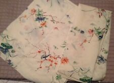 VINTAGE SPRING MAID FLORAL BIRDS FLAT AND FITTED BED SHEET SET FABRIC