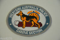WESTERN AUSTRALIAN CANINE UNIT EMBROIDERED CLOTH SEW IRON ON PATCH BADGE BMDD