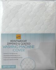 Washing Machine Cover  Heavyweight Zippered Appliance Cover White Free Shipping