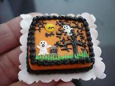 Dollhouse Miniatures Clay Halloween Devil Sheet Cake Fancy Night Festival -1