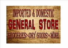 Vintage General Store Sign Retro Style Sign Kitchen Sign Store Sign