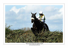 MANY CLOUDS 2015 GRAND NATIONAL LEIGHTON ASPELL HORSE RACING A4 PHOTO AINTREE