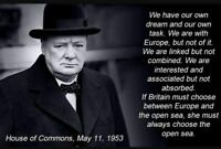 SIR WINSTON CHURCHILL Canvas Picture Print 20x30Inch