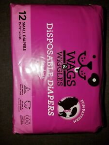 Wags & Wiggles Dog diapers female disposable.