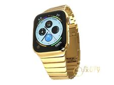 24K Gold Plated 44MM Apple Watch SERIES 4 With gold Link Band