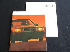1987 Mercedes Benz 190-class Brochure 190 E 190D 190E 2.3-16  Big Sales Catalog