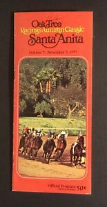 Santa Anita 1977 Autumn Classic Horse Racing Program Day 3 Willie Shoemaker