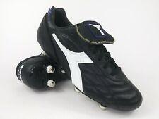 Diadora Mens Rare Classico K. SC SG 107158 Black White Soccer Cleats Size 7