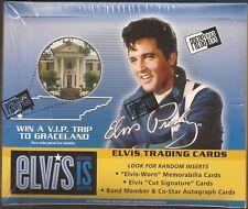 2007 ELVIS PRESLEY PRESS PASS ELVIS IS TRADING CARD 24 PK.BOX-POS.ELVIS CUT AUTO