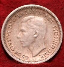 1943 Australia 3 Pence Silver Foreign Coin