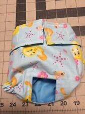 Blue Tweety Bird Dog Diaper Panty Adjust Elastic Carols Crate Covers