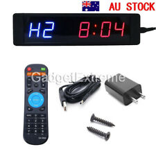 LED Programmable Crossfit Interval Timer Wall Clock w/ Remote for Tabata Fitness