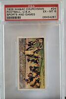 1929 Churchman Sports & Games Football, USA PSA 6!