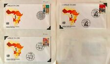 United Nations 1986 Africa in Crisis & Development Program FIRST DAY COVERS