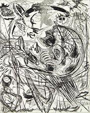 "DDR-arte ""la parola"" 1986 acquaforte Osmar Oriente (B Münzner * 1959 D) firmato a mano"