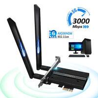 3000M Wi-Fi 6 AX200 PCIE wifi Card 802.11AX Dual Band 2.4G/5Ghz Bluetooth 5.0 US