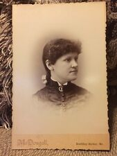 Vintage Cabinet Card Female Woman Portrait F H McDougall Boothbay Harbor, Maine