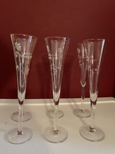 Perrier Jouet Champagne Flutes Set Of 6
