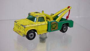 Lesney Matchbox Superfast No13 Dodge Wreck Truck Rare Green & Yellow Diecast Car